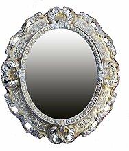 Lnxp WANDSPIEGEL Spiegel Oval in Gold Silber