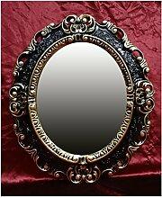 Lnxp WANDSPIEGEL Spiegel Oval in Schwarz Gold