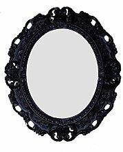 Lnxp WANDSPIEGEL Spiegel Oval in Schwarz REPRO