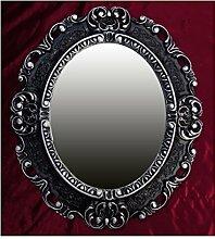 Lnxp WANDSPIEGEL Spiegel Oval in Schwarz Silber