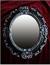 Lnxp WANDSPIEGEL Spiegel Oval in Schwarz Weiß
