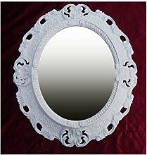 Lnxp WANDSPIEGEL Spiegel Oval in Weiß REPRO 45x38