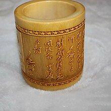 Lnyy Alle geschnitzt Bambus Vase 15 * 12cm