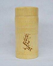 Lnyy Bambus-Becher mit Pflaume Orchidee Bambus