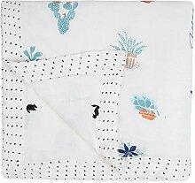 Lnyy Bambus-Faser-Gaze Decke. Vier Schichten