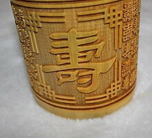 Lnyy Bambus Vase Bambus schnitzen hochwertige Vase