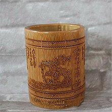 Lnyy Bambus Vase liefern vier Schätze Zubehör