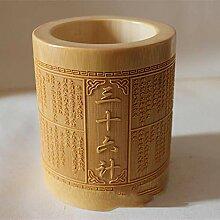 Lnyy Vase Bambus schnitzen Werbegeschenke fein