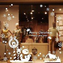 Lnyy Weihnachten Aufkleber Weihnachten Dekoration