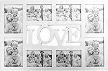 Lo+DeModa Bilderrahmen Love weiß