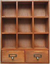 Lo + deModa Cabinet Mini Schrank mit 2Schubladen, Holz, Kiefer, 44x 34x 1.84cm