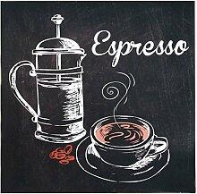 Lo + deModa Espresso Rahmen drucken, D.180mm Vulkanfiber, mehrfarbig, 30x 30x 0.5cm
