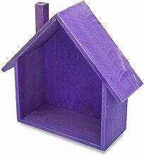 Lo + deModa House Wood Regal, Holz, lila, 25.5x 24x 0.44cm