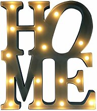 Lo+DeModa Leuchtbild LED Home weiß