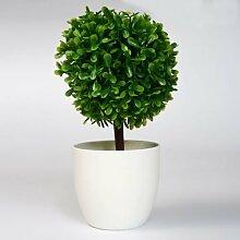 Lo + deModa Lichterbaum grün Pflanze Deko mit Vase, Kunststoff, mehrfarbig, 23x 9.5x 0.21cm