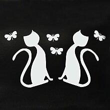 LO+DEMODA Wandtatoo-Spiegel Love Cats