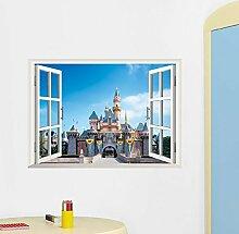 Lo+DeModa Wandtattoo Castle 3D