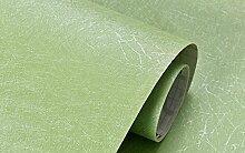 Loaest 0,60Mx3M Reine Seide Wallpaper Wallpaper Schlafzimmer Plain Selbstklebende Sticker Möbel Schreibtisch Kleiderschrank Aufkleber Renovierung Hintergrund Hellgrün