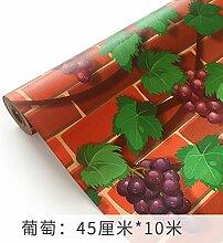Loaest 3D Stereo Ist Mit Klebstoff Pvc-Hintergrund Mauer Tapeten Selbstklebenden Wohnzimmer Schlafzimmer Selbst Wasserfeste Tapeten Eingehalten Dekorative Wandaufkleber Traube Ein