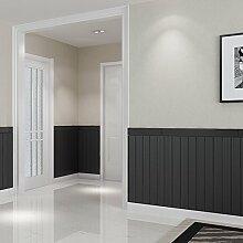 Loaest 3D Wallpaper Selbstklebende Dreidimensionale Wandaufklebern Holz Fernsehen Hintergrund Tapete Wohnzimmer Kinderzimmer Dekoration Wasserdicht Schwarz