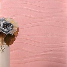 Loaest 60 Cm * 60 Cm 3D-Aufkleber Wellig Stereoskopische Tv Einstellung Wand Der Wohnzimmer Schlafzimmer Wasserdicht Wallpaper Wallpaper Rosa