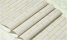 Loaest Blue Brick Wallpaper für Wände 3D Papel de Parede Para Quarto Wandbild Tapeten-3D Tapeten Home Decor Behang, 7699 Beige, 5,3 qm.