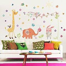 Loaest Botanischer Garten Wand Kindergarten Kinder Zimmer Schlafzimmer Dekoration Karikatur Aufkleber Wand Aufkleber Wallpaper Klebstoff Entfernt Werden Kann
