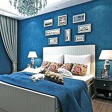 loaest Buch massiv Tapete Rollen für Bettwäsche Room Wall Tapete Dark Blau Tapete Vinyl Wall Paper Wohnzimmer Wallcoverings