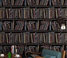 loaest Bücherregal Cafe-Tapete-Dorf, Retro,