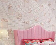 loaest Cartoon Puppy Kleidung STORE Dekoration Hellblau Pink Cute Tapete Kinder Tapete Rolle Papier PEINT