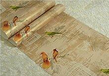 loaest Chinesisches Blumen Vögel Tapete Schlafzimmer TV Hintergrund Wand, Hochzeit Dekoration für Home Geschenk Home Dekoration