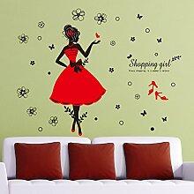 Loaest Die Kleidung Shop Aufkleber Schrank Schränke Dekorative Wand Aufkleber Papier Romantisches Schlafzimmer Kreative Mode Mädchen