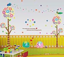 Loaest Farben Blumen Kinderzimmer Dekoration Malerei Wand Aufkleber Hintergrund Kindergarten Selbstklebende Sticker Kreative Layout Entfernt Werden Können.