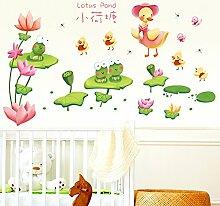 Loaest Frosch Ente Tier Aufkleber Bad Wohnzimmer Kinderzimmer Kindergarten Dekoration Wandaufkleber Tapete Selbstklebende