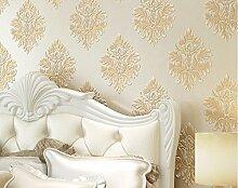 loaest Home Renovierungs Tapete Tapeten Modern Fashion geprägt Damaskus Rollen für Schlafzimmer Hintergrund Wand Tapete