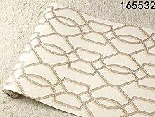 Loaest Im chinesischen Stil Klassisch gestreifte Tapete Lattice Wallpaper für Wände Roll Retro Braun Wohnzimmer Hintergrund Leuchtturm Wallpaper, 165532, 5,3 qm.