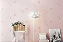Loaest Kinder- Zimmer Warm Pastorale Tapeten Vliestapeten Bedeckt Mit Hellgrün Schöne Prinzessin Schlafzimmer Wohnzimmer Rosa