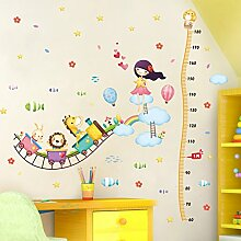 Loaest Kinderzimmer Baby Schlafzimmer Wand Dekoration Aufkleber Creative Höhe Air Train Aufkleber Können Entfernt Werden.