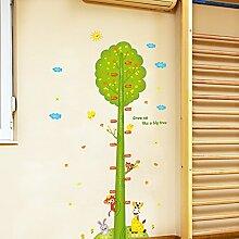 Loaest Kinderzimmer Dekoration Selbst - Aufkleber Selbstklebende Tapete Baby Schlafzimmer Kindergarten Abnehmbar Höhe Karikatur Aufkleber