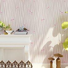 Loaest Koreanische Frischen Schlafzimmer Tapete Pastorale Ebene Einfache Moderne Hochzeit Zimmer Warm Warme Dekoration Tapete Light Pink