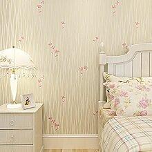 Loaest Koreanische Frischen Schlafzimmer Tapete Pastorale Ebene Einfache Moderne Hochzeit Zimmer Warm Warme Dekoration Tapeten Beige