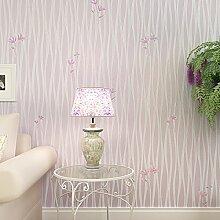 Loaest Koreanische Frischen Schlafzimmer Tapete Pastorale Ebene Einfache Moderne Hochzeit Zimmer Warm Warme Dekoration Tapete Lila Farbe