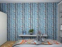 Loaest Nordic Wald Wald Birkenwald Blue Sky White Cloud Persönlichkeit Wallpaper Home Dekoration Wohnzimmer Wallpaper 3D, 9167, 1 Band