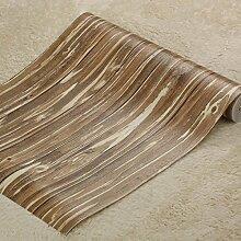 loaest Pflanze Holz Muster Tapete 3D Stereoscopic Tapete Rolle pepel (de parede im europäischen Stil braun gestreift Wohnzimmer Tapete
