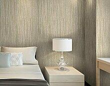 Loaest Reine Imitation Plain Stroh Tapete Wohnzimmer Schlafzimmer Warm Bedeckt Mit Einfachen Leinenstruktur Hintergrundbild Hellbraun