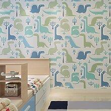 loaest schaldicht Tapete Cartoon Dinosaurier Muster Kinder Tapete Schlafzimmer Dekoration qz0427