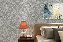 loaest Tapete Continental Damaskus Tiefenprägung Tapete Wohnzimmer Schlafzimmer Studie TV Hintergrund Tapete für Wände 3D