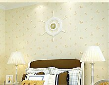 loaest Tapete für Wände 3D Lovely Moon Moderne minimalistischen Wohnzimmer Schlafzimmer Kinderzimmer Hintergrund 3D Tapete Rolle
