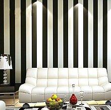 loaest Tapete Rolle modernen Slip Vertikal Schwarz und Weiß Streifen Tapete Rolle für Wohnzimmer Hintergrund Wand Home Decor, schwarz weiß gestreift, 5,3m²