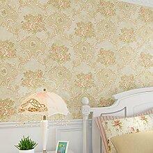 Loaest Tapeten für Kinderzimmer Tapete Wandmalereien Blumen im italienischen Stil rosa Blume Wallpaper Pvc 3D-geprägte Tapeten für Wände 3D, 290106, 5,3 qm.